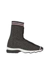 Zapatillas altas en gris oscuro de Fendi