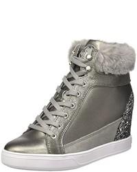 Zapatillas altas en gris oscuro de GUESS