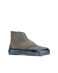 Zapatillas altas en gris oscuro de Julien David