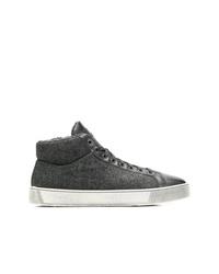 Zapatillas altas en gris oscuro de Santoni
