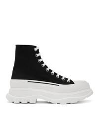 Zapatillas altas en negro y blanco de Alexander McQueen