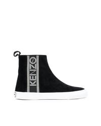 Zapatillas altas en negro y blanco de Kenzo