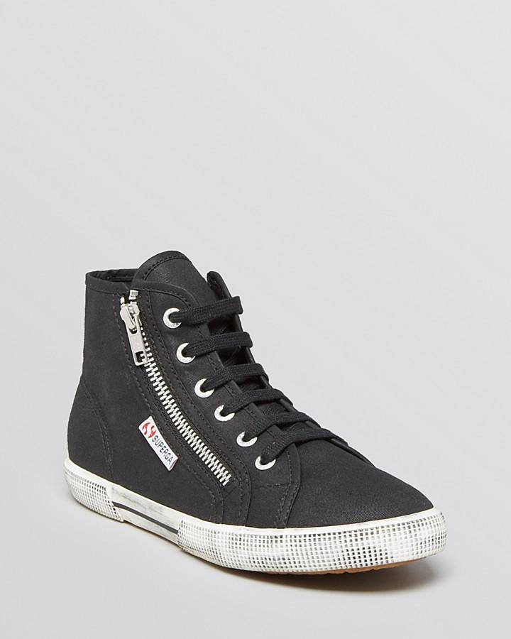 Sitios web a la venta Superga Sneakers Altas - Negro Bajo costo en línea Compre sitios web baratos De Verdad Venta de Outlet en línea jP0cBgu