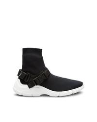 Zapatillas altas en negro y blanco de Prada