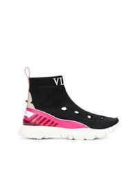 Zapatillas altas en negro y blanco de Valentino