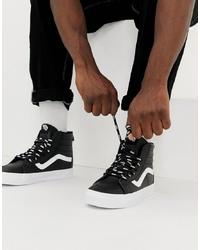 Zapatillas altas en negro y blanco de Vans