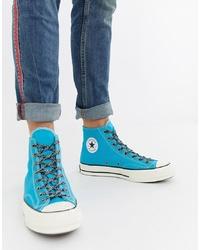 Zapatillas altas en turquesa de Converse