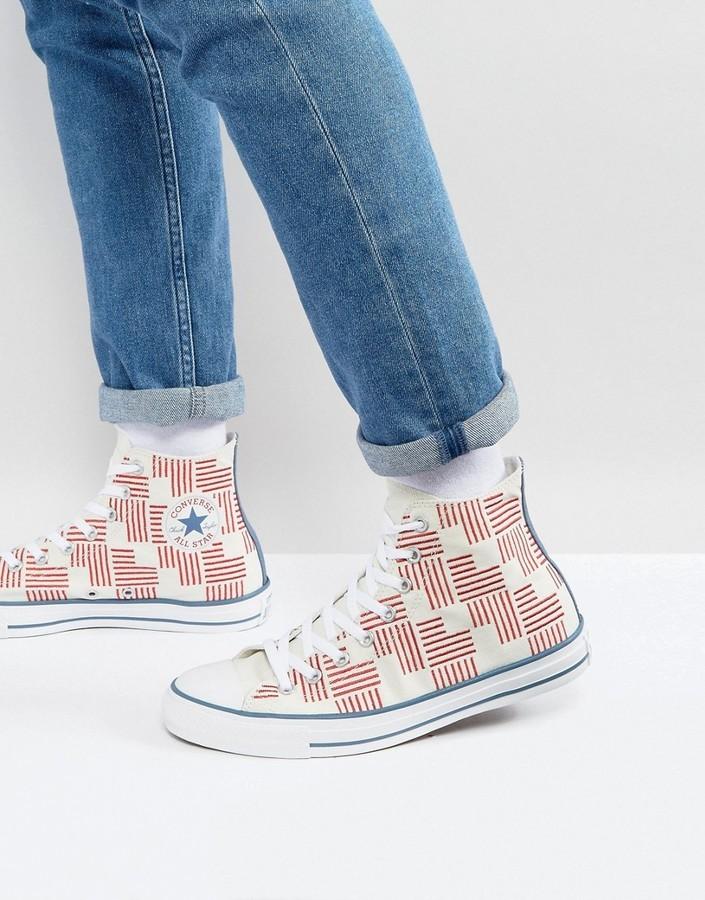 eficacia engañar peor  Zapatillas altas estampadas blancas de Converse, €42   Asos ...