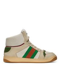 Zapatillas altas estampadas en beige de Gucci