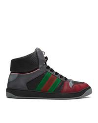 Zapatillas altas estampadas en gris oscuro