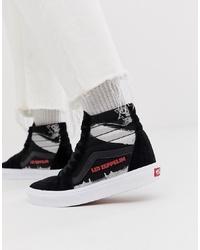 Zapatillas altas estampadas negras de Vans