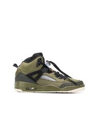 Zapatillas altas estampadas verde oliva de Jordan