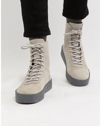 Zapatillas altas grises de ASOS DESIGN