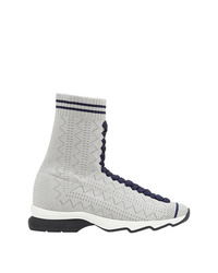 Zapatillas altas grises de Fendi