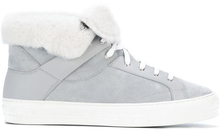 Zapatillas altas grises de Salvatore Ferragamo