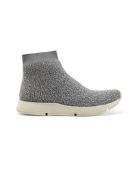 Zapatillas altas gruesas grises de Vince