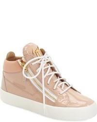 Zapatillas altas marrón claro