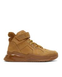 Zapatillas altas marrón claro de Balmain