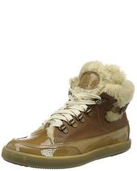 Zapatillas altas marrón claro de Candice Cooper