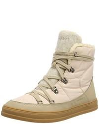 Zapatillas altas marrón claro de Esprit