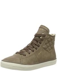 Zapatillas altas marrónes de Esprit
