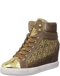 Zapatillas altas marrónes de GUESS