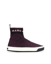 Zapatillas altas morado oscuro de Marc Jacobs