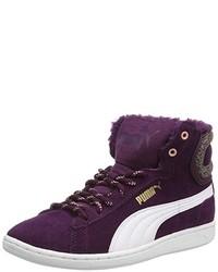 Zapatillas altas morado oscuro de Puma