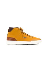 Zapatillas altas mostaza de Lacoste