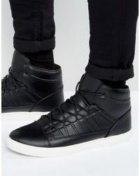 Zapatillas altas negras de Asos