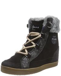 Zapatillas altas negras de Pepe Jeans