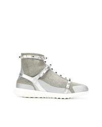 Zapatillas altas plateadas de Valentino