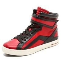 Zapatillas altas rojas
