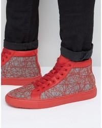 Zapatillas altas rojas de Asos