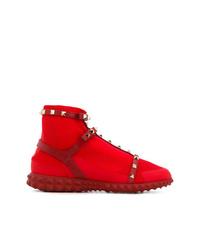 Zapatillas altas rojas de Valentino