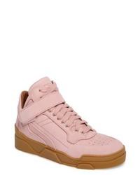 Zapatillas altas rosadas