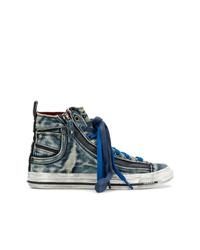 Zapatillas altas vaqueras azul marino de Diesel