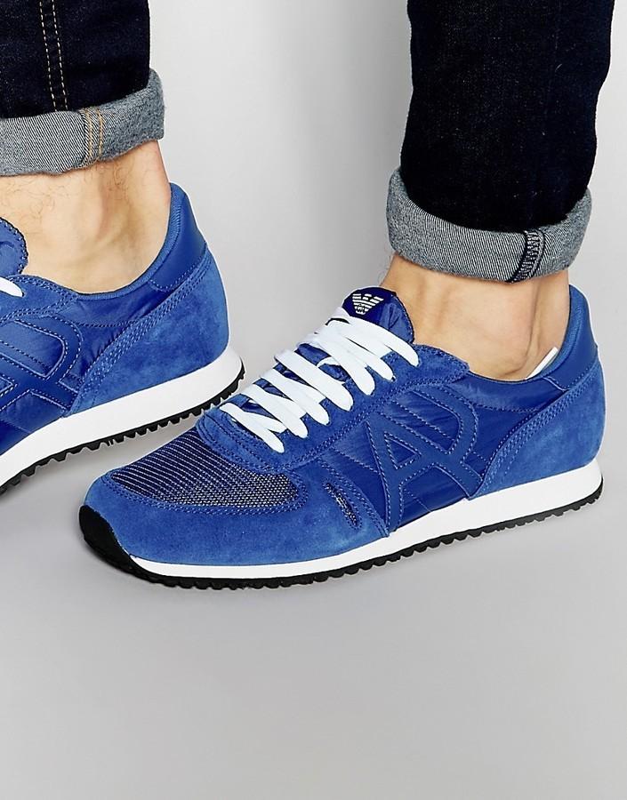 7caa2008d06 ... Zapatillas azules de Armani Jeans ...
