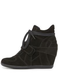 88a527fa Zapatillas con cuña de ante negras de Ash, €173 | shopbop.com ...
