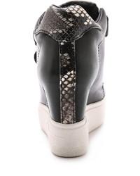 De Con Cuña Ash€245 Zapatillas Negras Cuero gb6vYy7f