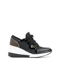 Zapatillas con cuña de cuero negras de MICHAEL Michael Kors
