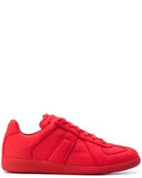 Zapatillas con estampado geométrico rojas de Maison Margiela