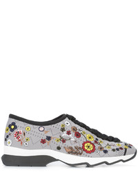 Zapatillas con print de flores Grises de Fendi
