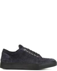 Zapatillas de ante azul marino de Armani Collezioni