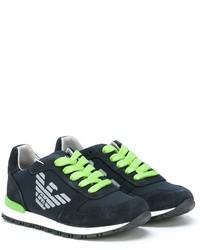Zapatillas de Ante Azul Marino de Armani Junior