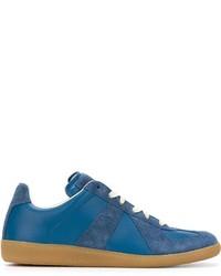 Zapatillas de ante con estampado geométrico azules de Maison Margiela