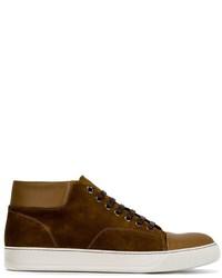 Zapatillas de ante en marrón oscuro de Lanvin