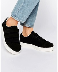 Zapatillas de ante negras de Pieces