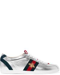 Zapatillas de Ante Plateadas de Gucci