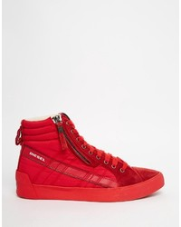 b17fa58a Zapatillas de ante rojas de Diesel, €151 | Asos | Lookastic España